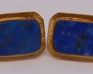 JEWELRY Pair of kt Gold and Lapis Lazuli
