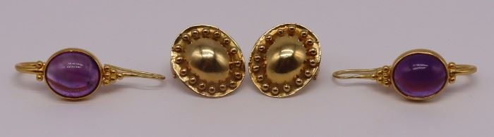 JEWELRY Pairs of Helen Woodhull Gold Earrings