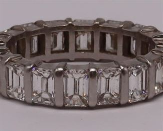 JEWELRY Platinum and ct Diamond Eternity Band