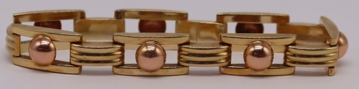 JEWELRY Signed Austrian kt BiColor Gold