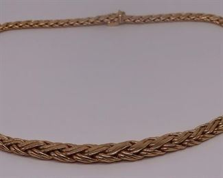 JEWELRY Tiffany Co kt Gold Wheat Chain