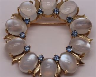 JEWELRY Tiffany Co Moonstone Sapphire Brooch