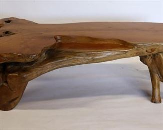 Large and Heavy Blonde Wood Table