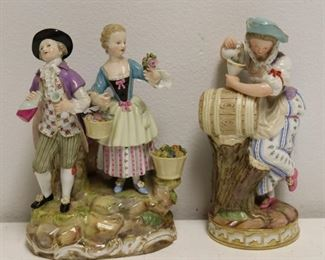 MEISSEN Lot Of Porcelain Figurines