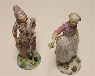 MEISSEN Of Large Signed Porcelain Figures
