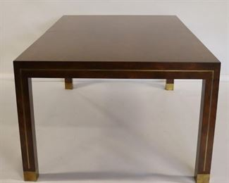 MIDCENTURY Brass Inlaid Walnut Table