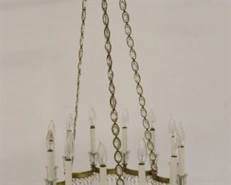 Midcentury Gilt Metal Bronze Chandelier