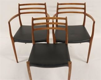 MIDCENTURY Niels O Moller Sculpted Teak Chairs