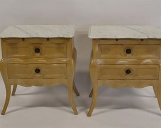 Pair Of Vintage And Quality Marbletop French