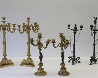 Pairs Of Antique Candlebra