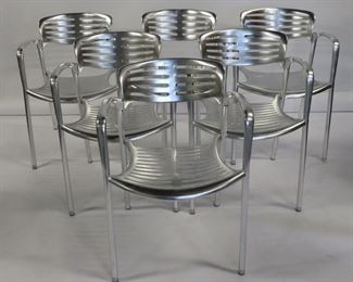 Set Of Jorge Pensi Contemporary Metal Chairs
