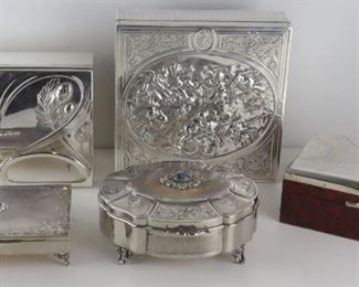 SILVER Assorted Silver and Silverplate Decorative
