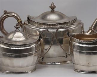 SILVER English Pc Silver Tea Service