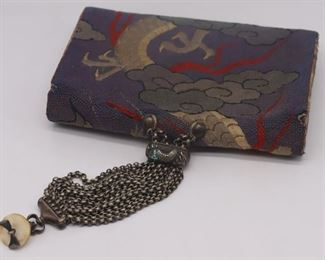 SILVER Japanese Silver and Embroidered Tobacco