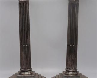 SILVER Pair of English Silver Candlesticks