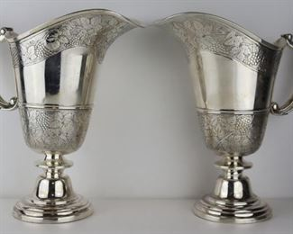 SILVER Pair of French Silver Water Jugs