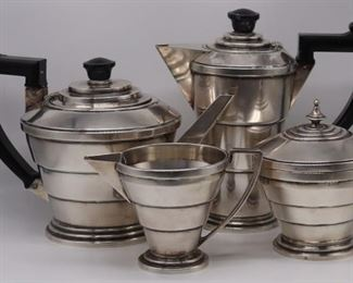 SILVER Pc English Silver Tiered Tea Service