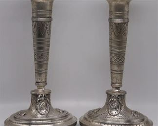 SILVER Pr of Continental Silver Candlesticks