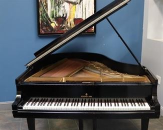 STEINWAY Sons Model M Ebonised Piano Serial