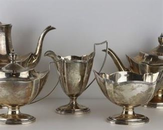 STERLING Pc Gorham Plymouth Sterling Tea Set