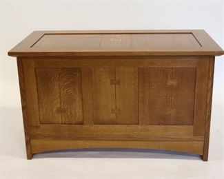 Stickley Audi Arts And Crafts Style Inlaid Trunk