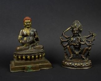 Two Bronze Figures of Kali and Acala