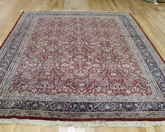 Vintage And Finely Hand Woven Room Size Carpet