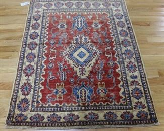 Vintage And Finely Hand Woven Kazak Carpet
