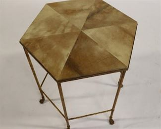 Vintage And Quality Gilt Metal Table