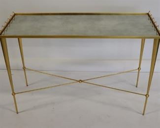 Vintage Midcentury Style Gilt Metal And Mirror