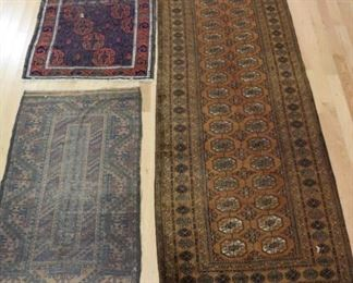 Vintage Finely Hand Woven Runner Area Carpet