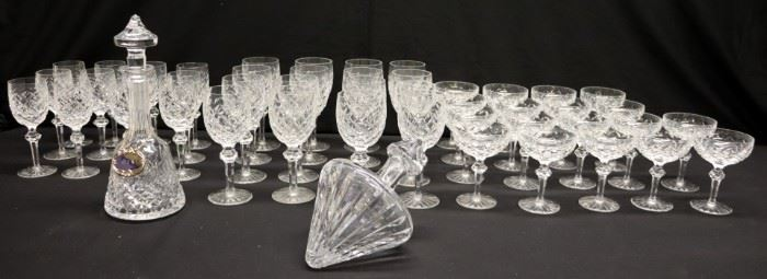 WATERFORD Large Glass Stemware Collection
