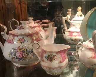 Royal Albert Tea Set Teapot, Sugar and Creamer