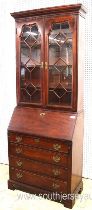 """SOLID Mahogany """"Thomasville Furniture"""" Bracket Foot Secretary with Bookcase Top  Auction Estimate $100-$300 – Located Inside"""