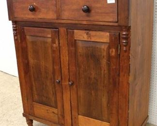 ANTIQUE 2 Drawer 2 Door Buffet with Back Splash  Auction Estimate $200-$400 – Located Inside