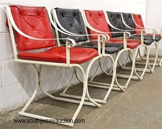 """Set of 6 Mid Century """"X"""" Frame Chairs  Auction Estimate $400-$800 – Located Inside"""