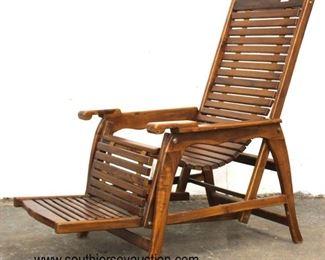 Teak Wood Lounge Chair  Auction Estimate $200-$400 – Located Inside