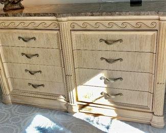 "67.5W x 20.5D x 40""H Marble-Top Bernhardt Dresser $350"