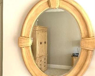 Oval mirror 41 across x 51 high in photo $65
