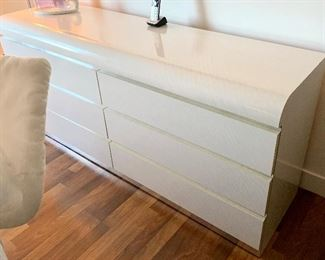 White laminate long & low Dresser  $175