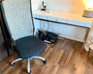 Dania Office Arm Chair $115 Contemporary White Laminate Desk $135