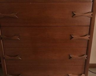 Very unique dresser with bow-tie pulls.
