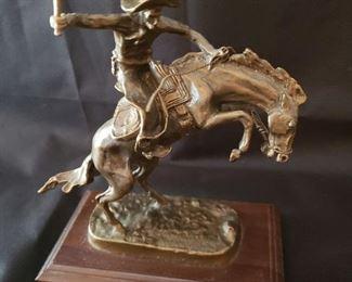 Bronco-Buster sculpture