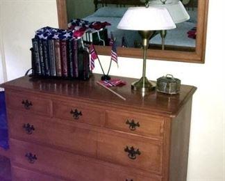 Wood Dresser & Mirror