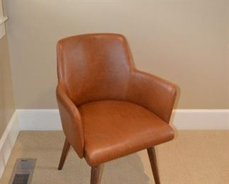 Tobacco colored leather arm chair (set of 6)