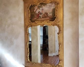 Newer Trumeau mirror by D. Milch & Son
