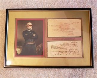 Reproduction of Robert E. Lee's letter of resignation