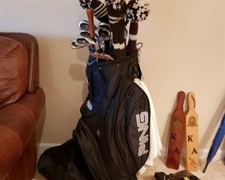 Ping bag & Callaway Big Bertha Irons and other golf items