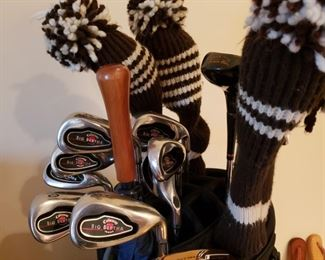 Close up of the clubs