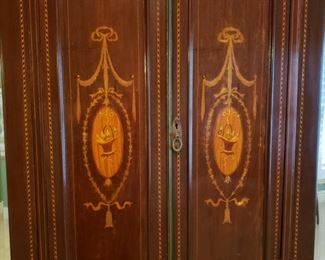 Close up of the armoire doors